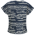 Karl Lagerfeld Women's Jacquard Scribble Top - Blue: Image 2