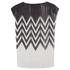 Designers Remix Women's Tilt Graphic Top - Black/White: Image 3