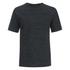 Helmut Lang Men's Tweed Ottoman Short Sleeved Sweatshirt - Black Heather: Image 1