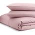 Highams 100% Egyptian Cotton Pillowcase - Vintage Pink: Image 2