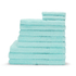 Highams 100% Egyptian Cotton 10 Piece Towel Bale (550gsm) - Aqua: Image 1