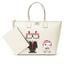 Karl Lagerfeld Women's K/Robot Shopper Karl & Choupette Bag - Cream: Image 2
