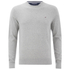 Tommy Hilfiger Men's Cotton Linen Crew Neck Jumper - Cloud: Image 1
