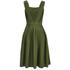 Maison Kitsuné Women's Iris Open Back Long Dress - Khaki: Image 3