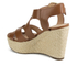 MICHAEL MICHAEL KORS Women's Celia Mid Wedge Sandals - Luggage: Image 4