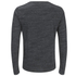 Brave Soul Men's Jeffrey Button Long Sleeved Top - Charcoal Marl: Image 2
