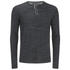 Brave Soul Men's Jeffrey Button Long Sleeved Top - Charcoal Marl: Image 1