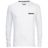 Brave Soul Men's Wolfgang Zip Pocket Long Sleeve Top - White: Image 1