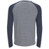 Brave Soul Men's Monacle Striped Raglan Long Sleeve Top - Navy: Image 2