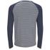 Camiseta manga larga Brave Soul Monacle a rayas - Hombre - Azul marino: Image 2