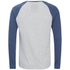 Brave Soul Men's Rasmus Grandad Long Sleeved Top - Ecru/Vintage Blue: Image 2