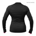 Better Bodies Women's Zipped Long Sleeve Top - Black/Pink: Image 2