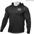 Better Bodies Men's Long Sleeve Cover Up Hoody - Black: Image 1