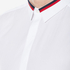 HUGO Men's Ewid Collar Detail Long Sleeve Shirt - White: Image 5