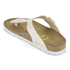 Birkenstock Women's Gizeh Shiny Snake Toe-Post Sandals - Cream: Image 4