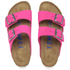 Birkenstock Women's Arizona Slim Fit Suede Double Strap Sandals - Pink: Image 2