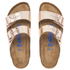 Birkenstock Women's Arizona Leather Slim Fit Double Strap Sandals - Metallic Copper: Image 3