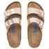Birkenstock Women's Arizona Slim Fit Leather Double Strap Sandals - Metallic Copper: Image 3