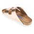 Birkenstock Women's Arizona Slim Fit Leather Double Strap Sandals - Metallic Copper: Image 4