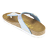 Birkenstock Women's Gizeh Shiny Snake Toe-Post Sandals - Sky: Image 4