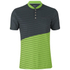 Primal Boundary Short Sleeve Henley - Black/Green: Image 1