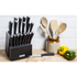 Tower T80702 19 Piece Knife Block - Black: Image 3
