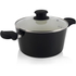 Tower T90922B Taper Ceramic Coated Casserole Dish - Black - 24cm: Image 1