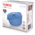 Tower IDT90001 Cast Iron Round Casserole Dish - Blue - 26cm: Image 5