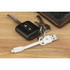 Kit USB to Micro USB Keyring Data & Charge Cable - White: Image 2