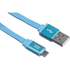 Kit USB to Micro USB Data & Charge Flat Cable - Metallic Blue: Image 1