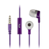 KitSound Entry Mini Earphones With In-Line Mic  - Purple: Image 1