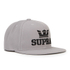 Supra Men's Above Logo Snapback - Silver/Black: Image 2
