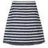 Sonia by Sonia Rykiel Women's Tweed Striped Skirt - Navy/Ecru: Image 2