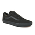 Vans Unisex Old Skool Canvas Trainers - Black/Black: Image 4