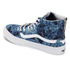 Vans Women's Sk8-Hi Slim Zip Indigo Tropical Trainers - Blue/True White: Image 4