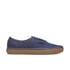 Vans Men's Authentic Washed Canvas Trainers - Dress Blues/Gum: Image 1
