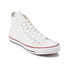 Converse Men's Chuck Taylor All Star Woven Canvas Hi-Top Trainers - White/Red: Image 2