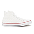 Converse Men's Chuck Taylor All Star Woven Canvas Hi-Top Trainers - White/Red: Image 1