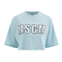 MSGM Women's Logo Cropped T-Shirt - Blue: Image 1