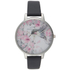 Olivia Burton Women's Painterly Prints Hummingbird Watch - Grey/Silver: Image 1