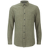 Selected Homme Men's None Trent Solid Long Sleeve Shirt - Olive Night Melange: Image 1
