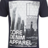Dissident Men's Arrow Crane Graphic Print T-Shirt - True Navy: Image 3