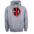 Marvel Deadpool Mens Paint Logo Hoody - Grijs: Image 1
