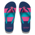 Lauren Ralph Lauren Women's Elissa 2 Striped Flip Flops - Modern Navy: Image 1