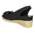 Lauren Ralph Lauren Women's Camille Canvas Wedged Espadrilles - Black: Image 4