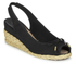 Lauren Ralph Lauren Women's Camille Canvas Wedged Espadrilles - Black: Image 2