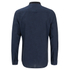Brave Soul Men's Oakley Collarless Long Sleeve Shirt - Ink/Navy: Image 2