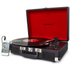 Crosley Cruiser Portable Turntable with Built-In Stereo Speakers - Black: Image 2