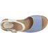 Clarks Women's Tustin Sinitta Leather Double Strap Sandals - Blue Combi: Image 3
