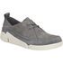 Clarks Women's Tri Angel Leather Sporty Shoes - Grey/Blue: Image 2